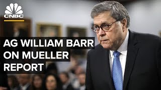 WATCH LIVE: Attorney General William Barr press conference on Mueller Report -- April 18, 2019