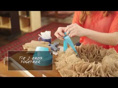 How To Make Burlap Wreath For Summer