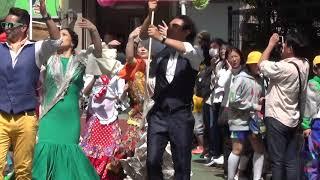 赤羽馬鹿祭り'18 馬鹿踊りパレード やぐらーず~ベニート・ガルシア フラメンコ