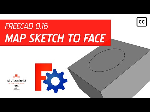 FreeCAD Tutorial - General #11 - How to map a sketch to a face