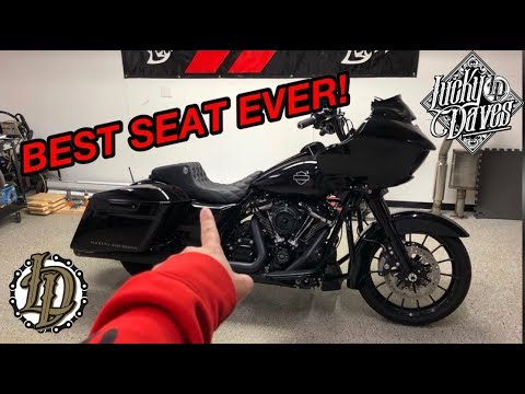 LUCKY DAVES STEP UP SEAT REVIEW! *HARLEY DAVIDSON BAGGER SEAT*