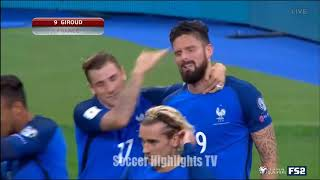 France vs Belarus 2-1 World Cup Qualifiers All Goals and Highlights October 10 ,2017