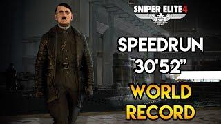 "Sniper Elite 4 - Any% Speedrun - 30'53"" (World Record)"