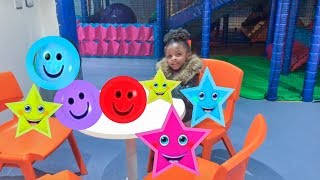 Learn Colors For Kids With Chairs Nursery Rhymes Colours Songs | INDOOR PLAYGROUND With Forrest