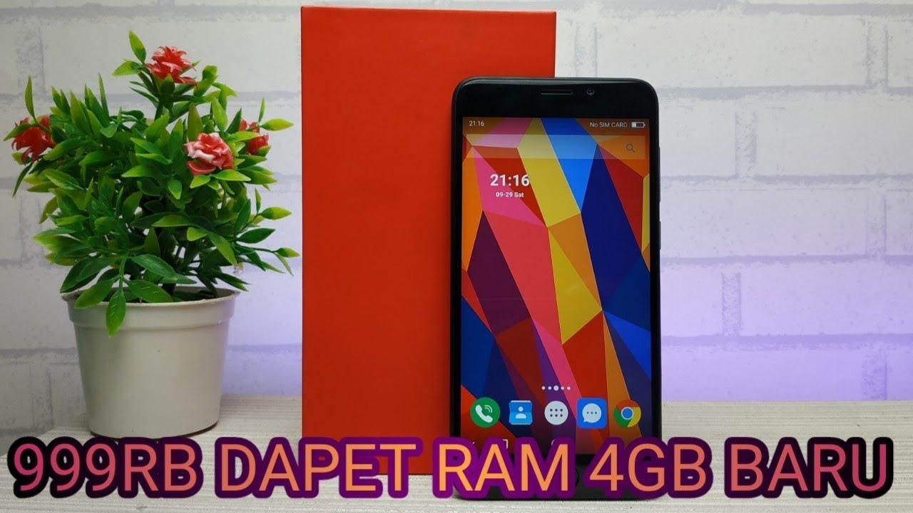 999rb Dapet Hp Android Ram 4gb Murah Banget Unboxing Nomi 8h Youtube
