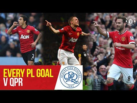 Every PL Goal v QPR | Rafael, Fletcher, Mata, Rooney | QPR v Manchester United | Manchester United