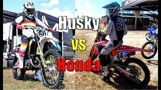 Rockstar Edition Husqvarna FC450 vs Works Edition Honda CRF450R
