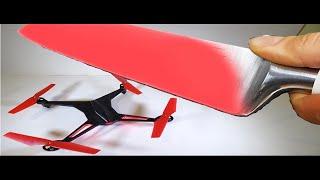 News Technology ✓ EXPERIMENTO Cuchillo Al Rojo Vivo VS DRONE     1000°C