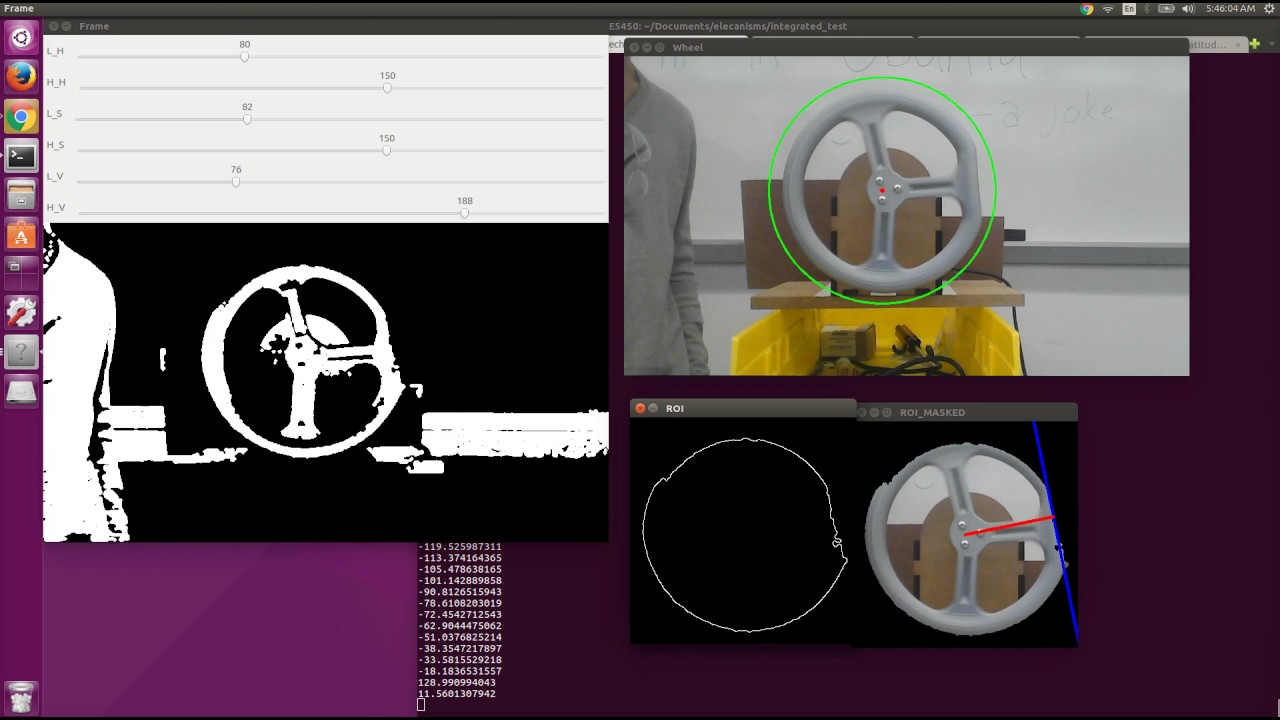 Wheel Orientation Tracking with OpenCV