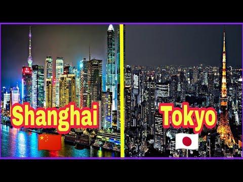 Shanghai vs Tokyo | Full city comparison | Full HD.