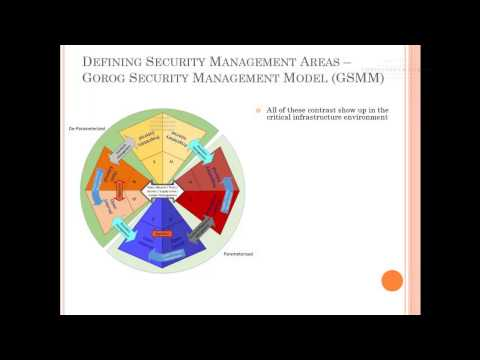 Security Management For Critical Infrastructure Part 1