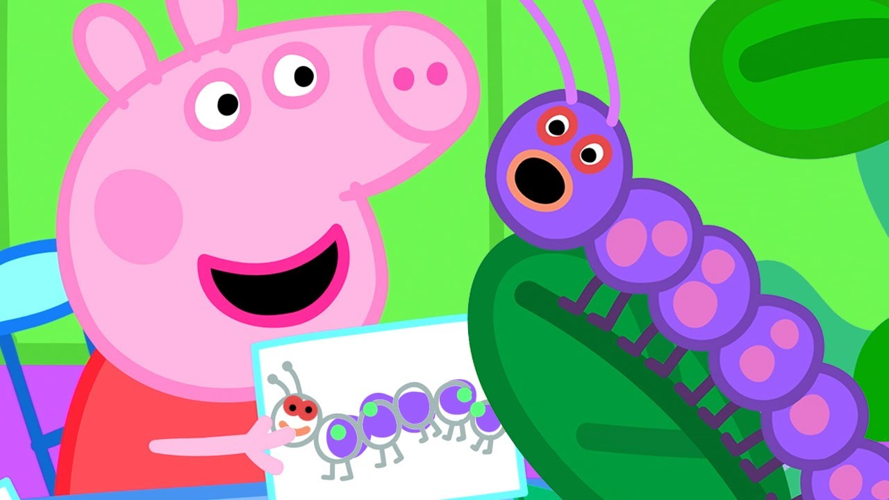 Download Peppa Pig Official Channel | Peppa Pig Makes Butterfly Wings and Dances Like a Caterpillar