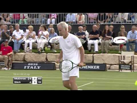 Mercedes Cup 2014: Showmatch Michael Stich - John McEnroe
