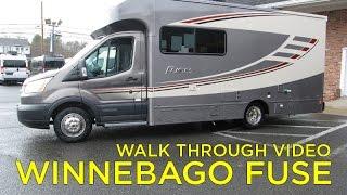 Walk Through 2017 Winnebago Fuse Motorhome Ford Transit For Sale at Colonial RV