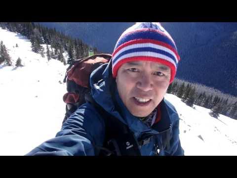 Little lawson kananaskis range. snowshoeing.