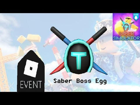 Roblox Egg Hunt 2020 Saber Boss Egg Saber Simulator Youtube