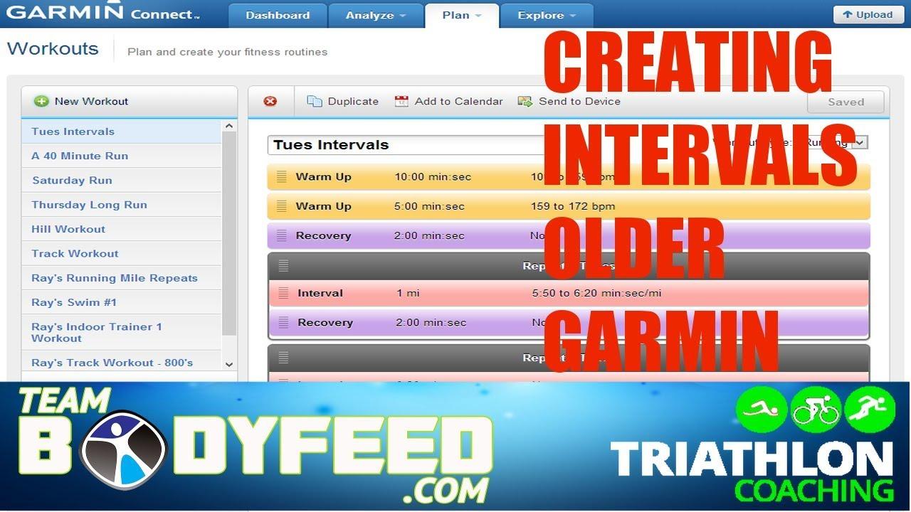 CREATING INTERVAL TRAINING ON GARMIN CONNECT - Bodyfeed Triathlon Coaching