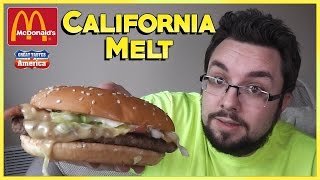 Mcdonald's California Melt Review | Great Tastes Of America
