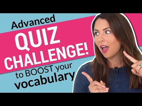 Do You Know These English Words? | Take The Advanced Vocabulary Challenge! ⚡️