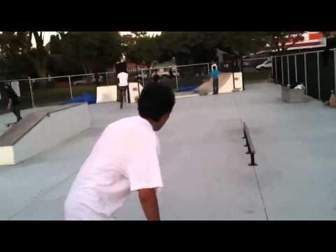 East Palo Alto Skatepark: Small line, Abraham Mart...
