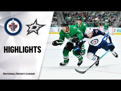 NHL Highlights   Jets @ Stars 12/5/19