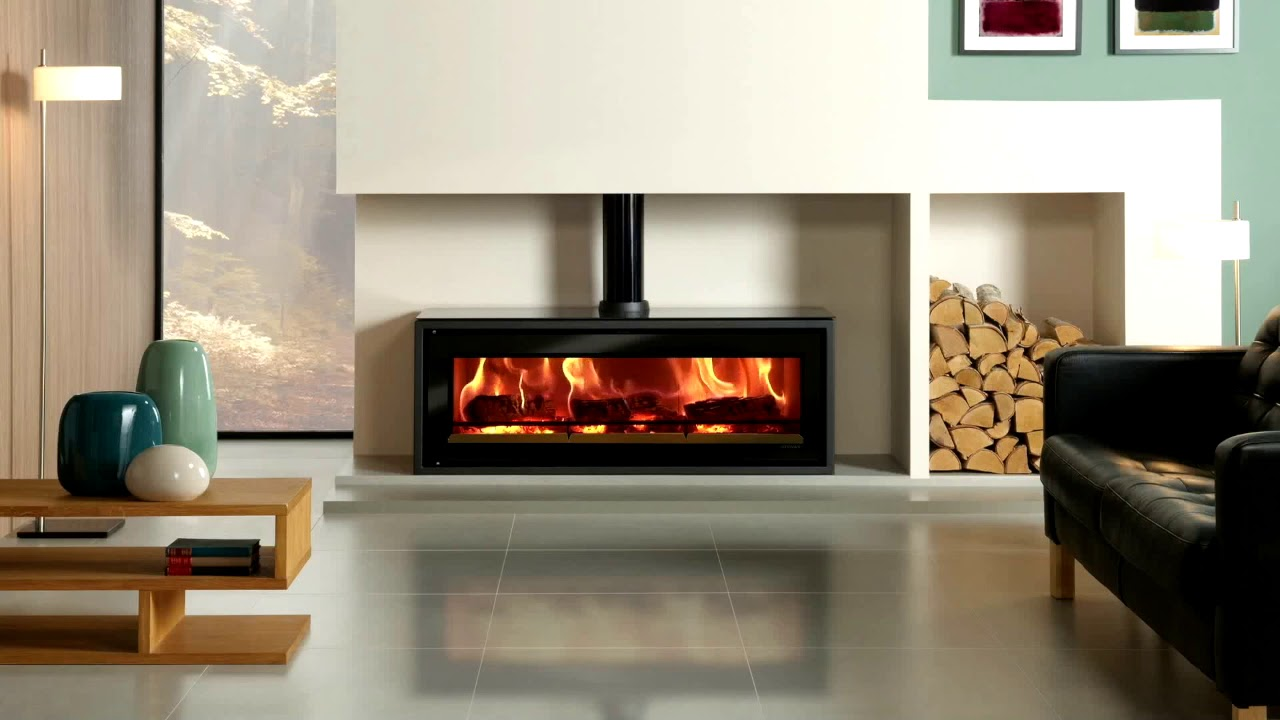 The Contemporary Stovax Riva Studio 3 Freestanding Wood Burning Stove Youtube