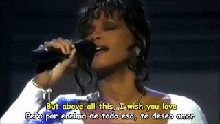 WHITNEY HOUSTON - I WILL ALWAYS LOVE YOU - Subtitulos Español & Inglés