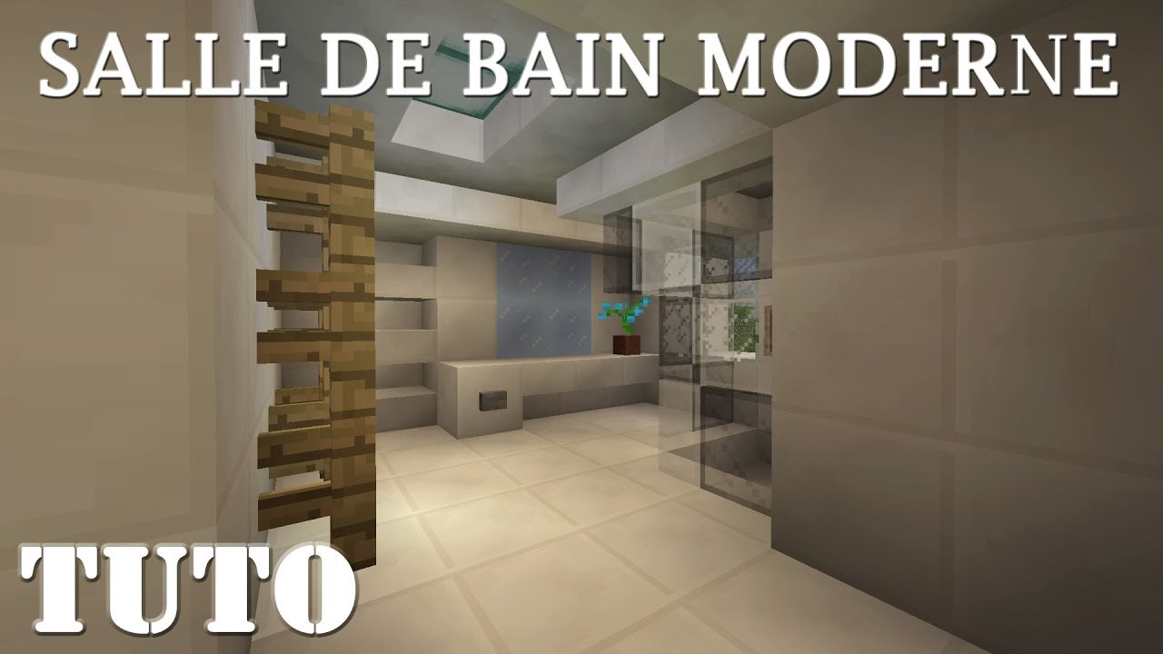 minecraft comment faire une salle de bain moderne ps4 youtube. Black Bedroom Furniture Sets. Home Design Ideas