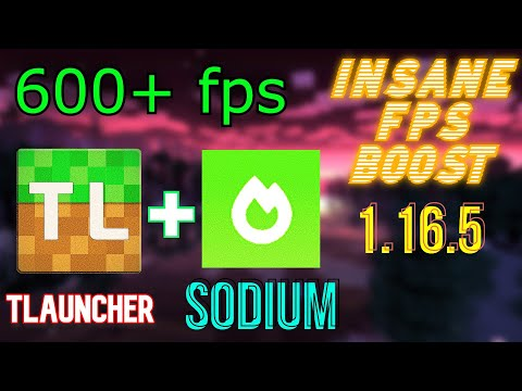 Install Sodium Mod in TLauncher | 1.16.5 | INSANE Fps Boost | +600 FPS | LATEST | 2021