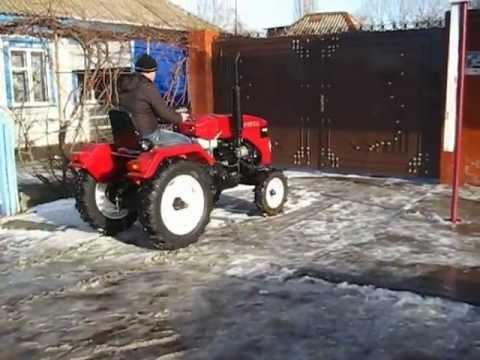 Минитрактор Уралец 220 с блокировкой заднего моста - YouTube