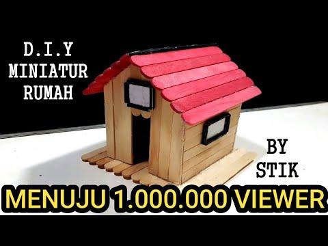 Cara Membuat Mini Atur Rumah Dari Stik Es Krim.