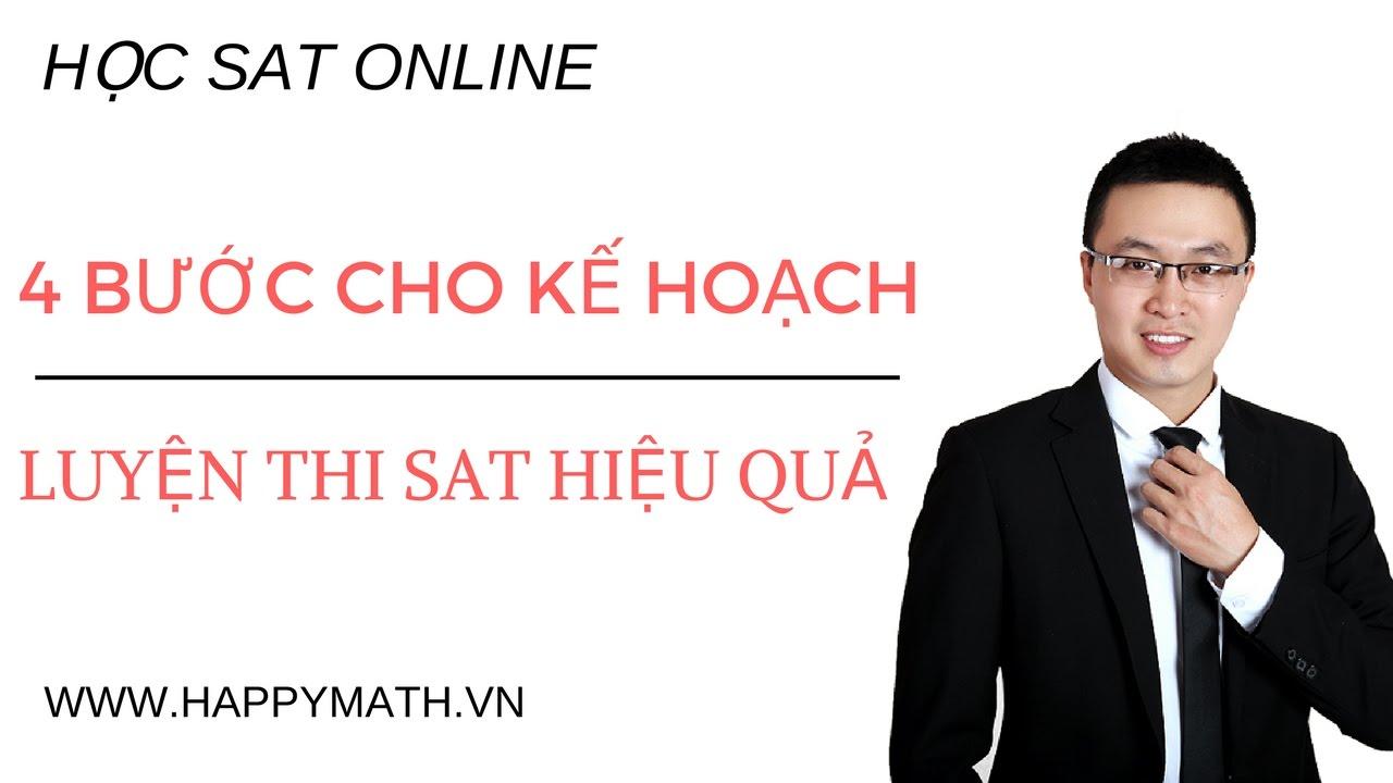 [ HỌC SAT ONLINE ] 4 BƯỚC CẦN LÀM ĐỂ LÊN KẾ HOẠCH LUYỆN MATH SAT HIỆU QUẢ