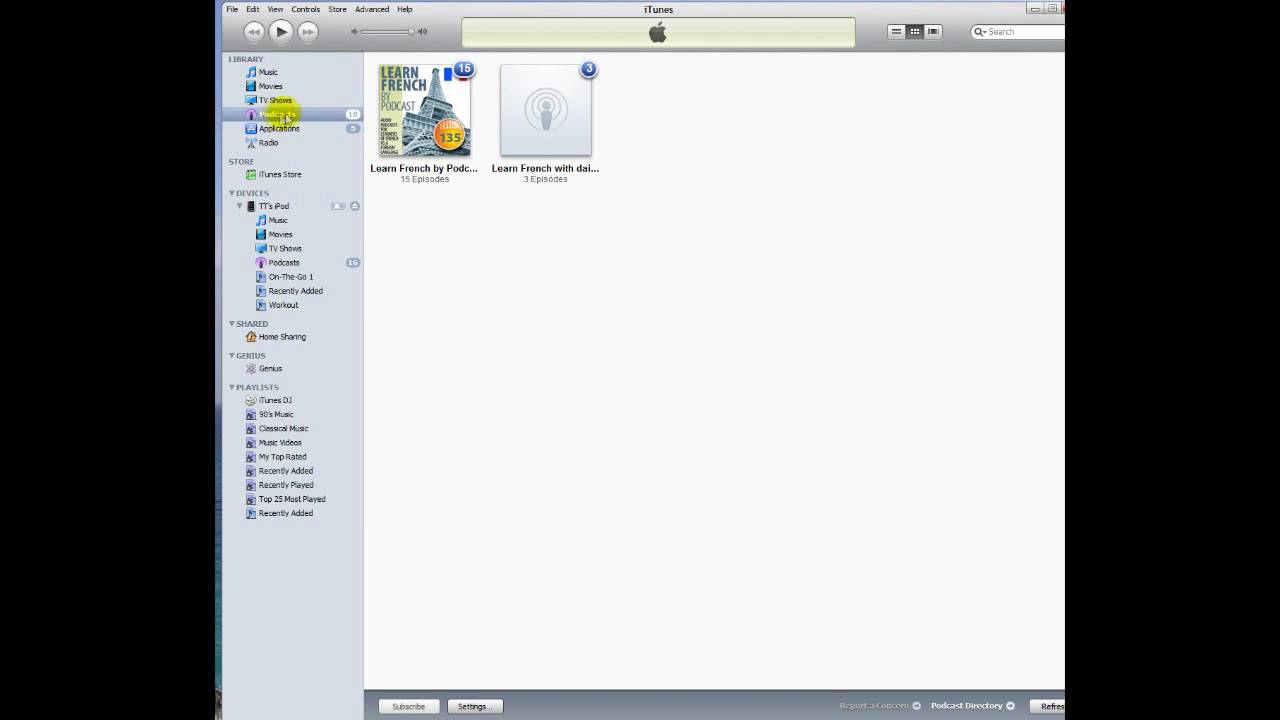 How to Sync and Download Podcasts to iPod, iPod Nano, iPod Touch