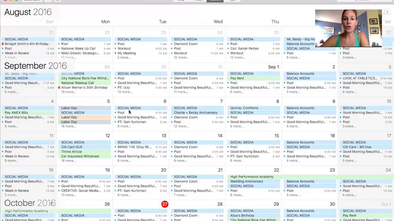 My Beachbody Marketing Calendar What I Do Each Week Month Youtube