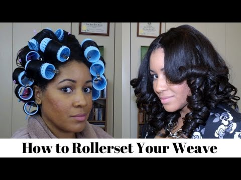 How To Roller Set Your Weave Youtube