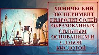 опыт  1. Гидролиз солей, образованных сильным основанием и слабой кислотой