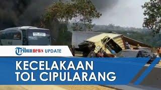 VIDEO Kecelakaan Beruntun di Tol Cipularang Libatkan 21 Mobil hingga Terbakar, 6 Orang Tewas