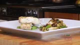 Grilled Halibut With Spring Veggies