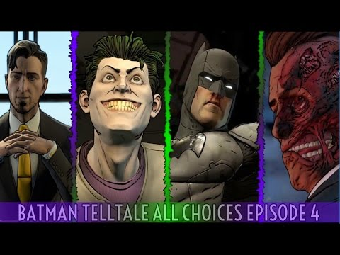 Batman Telltale Episode 4 All Choices / Alternate Choices And Ending