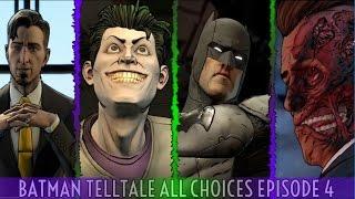 Batman Telltale Episode 4 All Choices / Alternate Choices And Ending
