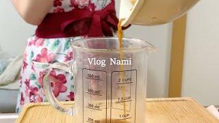 和食を作って食べる|一人暮らしOLの料理|休日の過ごし方|Vlog