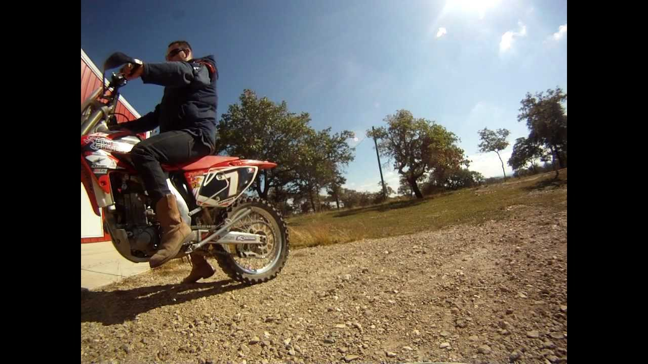 Honda Crf 450 Exhaust White Bros Hd Gopro 2