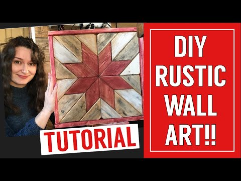 DIY Rustic Wood Wall Art    Christmas Scrap Wood Decor