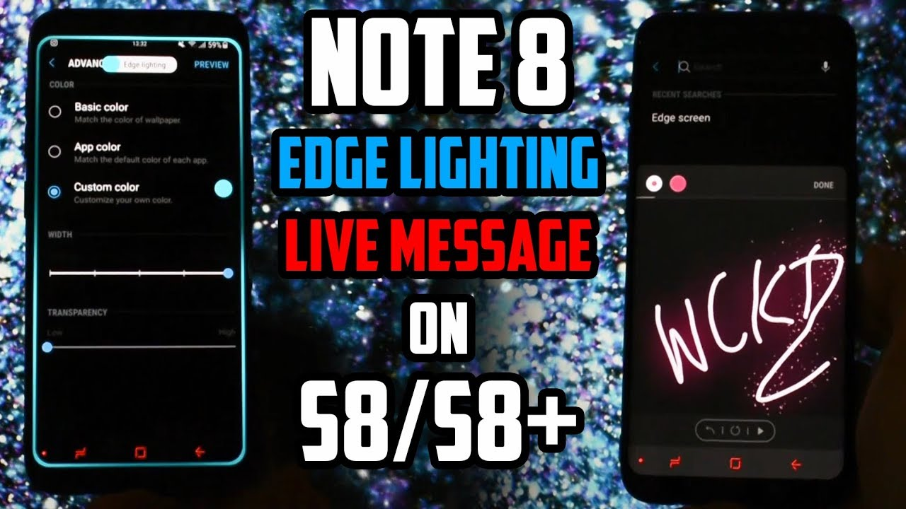 Note 8 Live Message & Edge Lighting | Working on Galaxy S8/S8+
