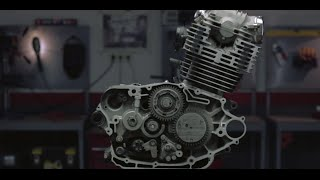 Watch a bike engine disintegrate one millimeter at a time