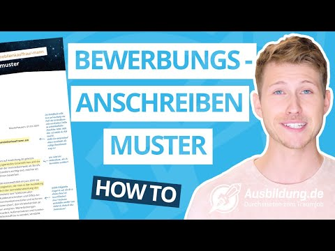 How To: Bewerbungsanschreiben Muster
