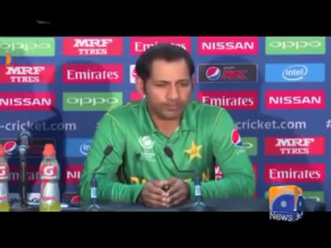 Sarfraz Ahmad press conference funny in tezabi totay after winning icc champion trophy-2017-you-Tube thumbnail