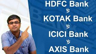 5 Point Comparison of HDFC Bank vs Kotak Bank vs ICICI Bank vs Axis Bank