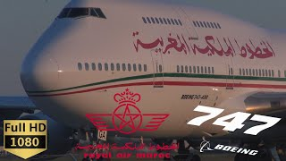 BOEING 747 Royal Air Maroc Takeoff Montreal-Trudeau Airport (YUL)