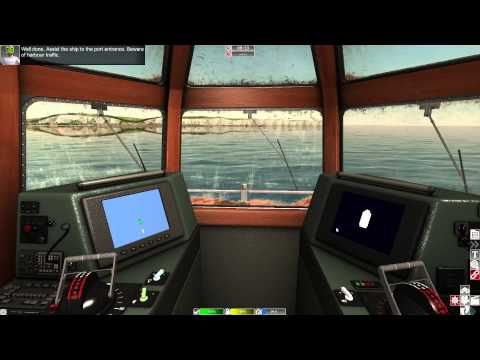 European Ship Simulator - Towing a Bulk Carrier to Port Dover HD